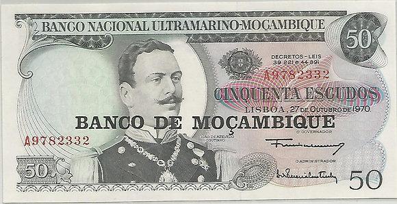 Moçambique MBBN0500032332 50 Escudos 1970
