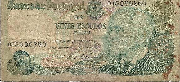 Portugal PTBN20.002.6280 20 Escudos 1978