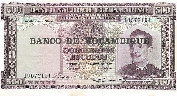 Moçambique MBBN5000012101 500 Escudos 1967