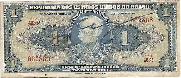Brasil BankNotes BRBN001062863 1 Cruzeiro