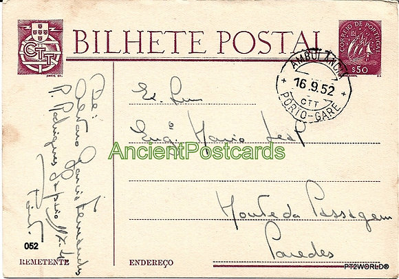 Bilhete Postal PT052/52