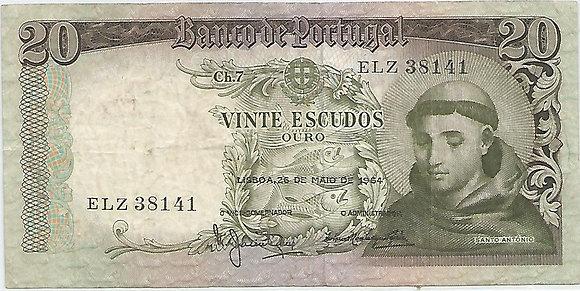 Portugal PTBN20.033.8141 20 Escudos 1964