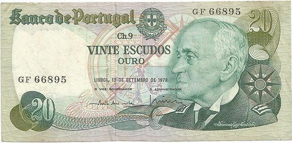 Portugal PTBN20.015.6895 20 Escudos 1978