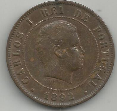 Portugal PTXX1031892 XX Reis 1892