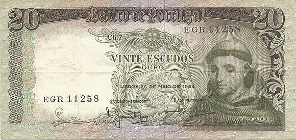 Portugal PTBN20.016.1125 20 Escudos 1964