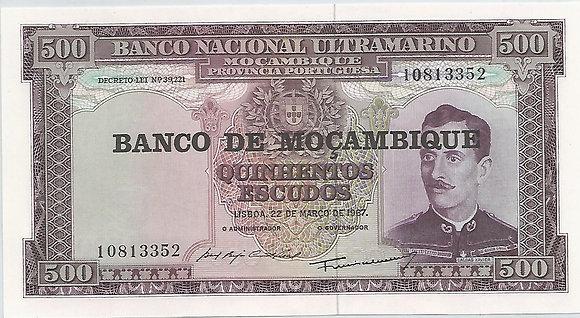 Moçambique MBBN5000033352 500 Escudos 1967
