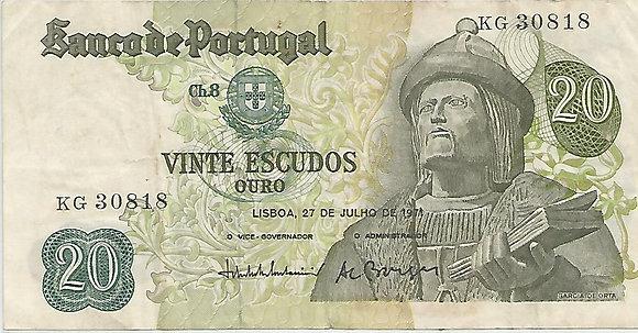 Portugal PTBN20.047.0818 20 Escudos 1971
