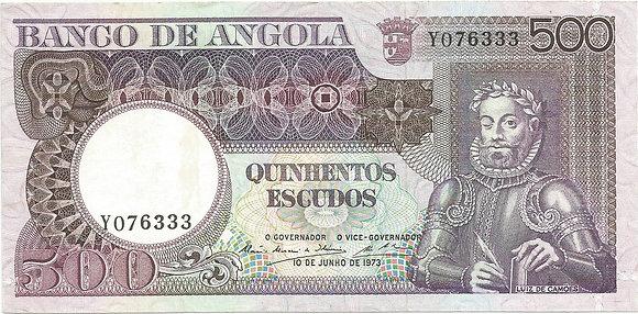 Angola  ANBN5000036333 500 Escudos 1973