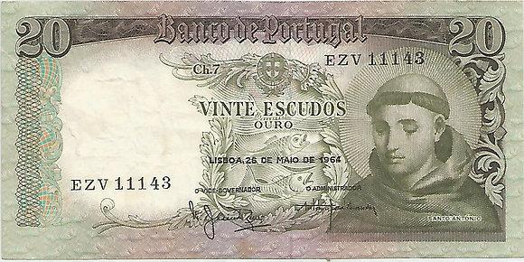 Portugal PTBN20.035.1143 20 Escudos 1964