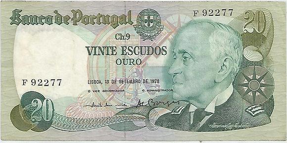 Portugal PTBN20.056.2277 20 Escudos 1978