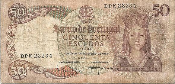 Portugal PTBN50.008.3234 50 Escudos 1964