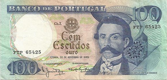 Portugal PTBN100.019.5425 100 Escudos 1965