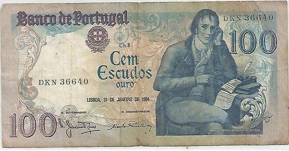 Portugal PTBN100.033.6640 100 Escudos 1984