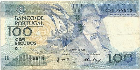 Portugal PTBN100.018.9913 100 Escudos 1988