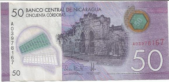 Nicaragua BankNotes NICBN003.78167 50 Cordobas 2014