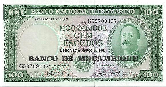 Moçambique MBBN0100109437 100 Escudos 1961