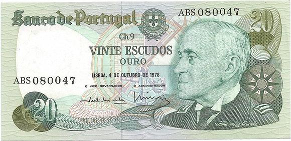 Portugal PTBN20.007.0047 20 Escudos 1978