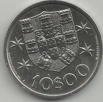 Portugal PT01021972 10 Escudos 1972