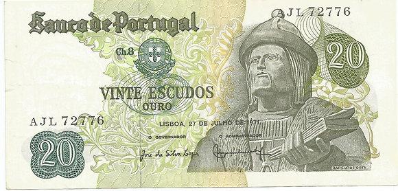 Portugal PTBN20.012.2776 20 Escudos 1971