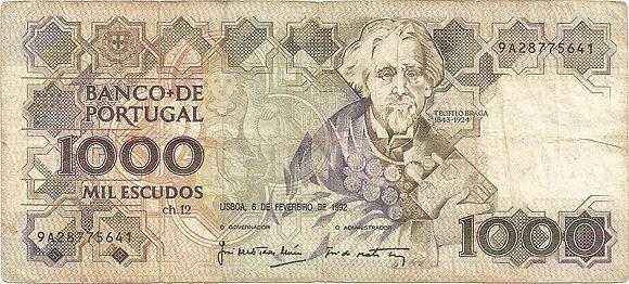 Portugal PTBN1000.001.5641 1000 Escudos 1992