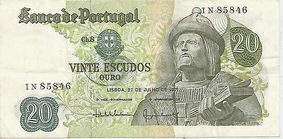 Portugal PTBN20.045.5846 20 Escudos 1971