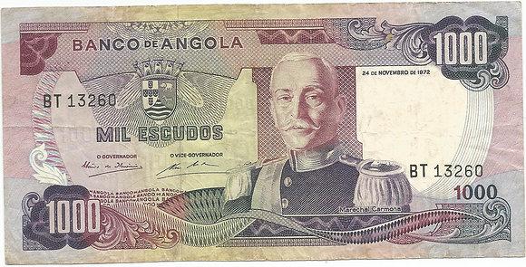 Angola  ANBN10000063260 1000 Escudos 1972
