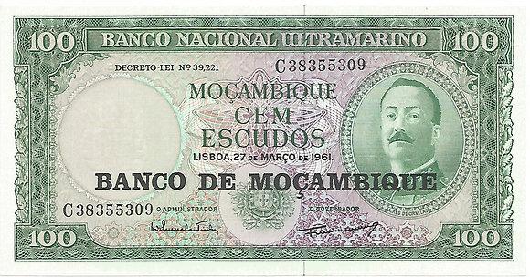 Moçambique MBBN0100115309 100 Escudos 1961
