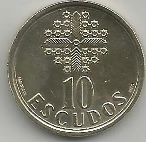 Portugal PT01171998 10 Escudos 1998