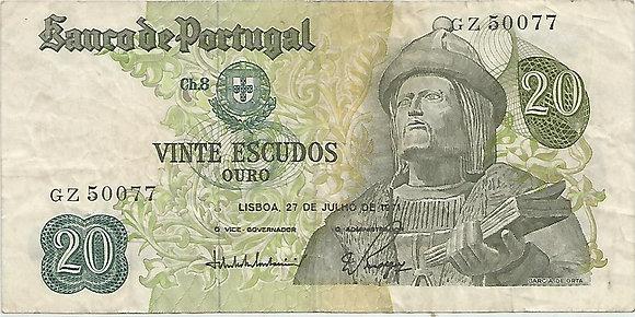 Portugal PTBN20.049.0077 20 Escudos 1971