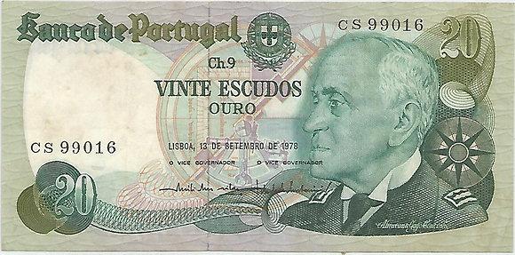 Portugal PTBN20.057.9016 20 Escudos 1978