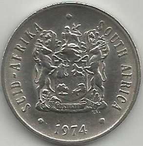 South Africa SAC.0101974 20 Cents 1974