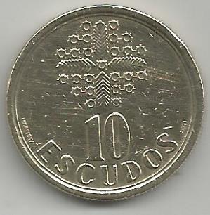 Portugal PT01111992 10 Escudos 1992