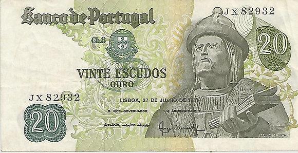 Portugal PTBN20.050.2932 20 Escudos 1971