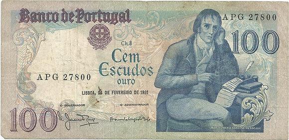 Portugal PTBN100.030.7800 100 Escudos 1981