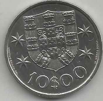 Portugal PT01031973 10 Escudos 1973