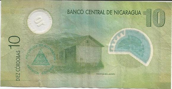 Nicaragua BankNotes NICBN011.566020 10 Cordobas 2007