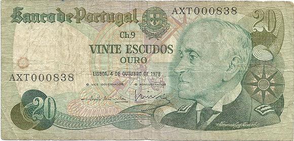 Portugal PTBN200220838 20 Escudos 1978