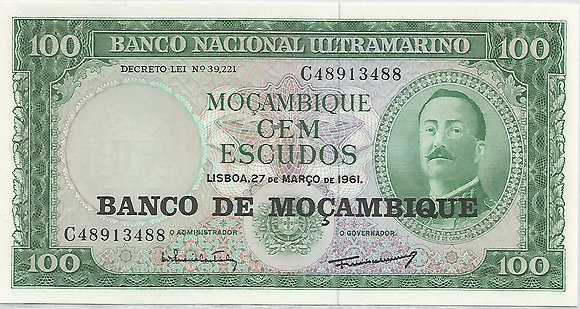 Moçambique MBBN0100073488 100 Escudos 1961