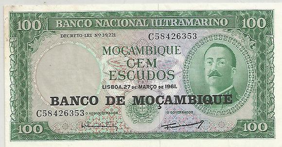 Moçambique MBBN0100046353 100 Escudos 1961