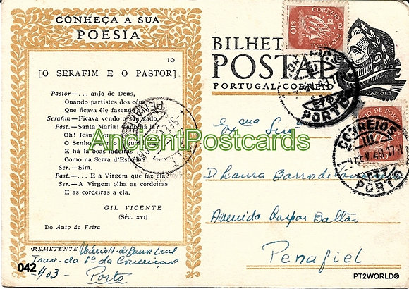 Bilhete Postal PT042/49 - Conheça a sua Poesia