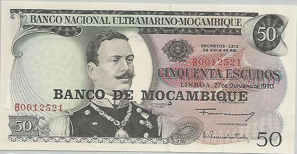 Moçambique MBBN0500052521 50 Escudos 1970