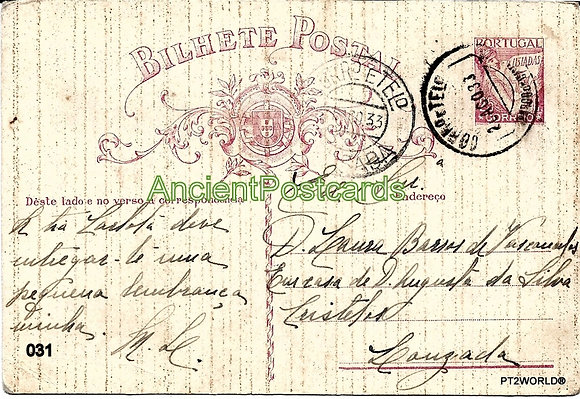 Bilhete Postal PT031/33