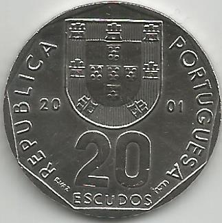 Portugal PT02152001 20 Escudos 2001