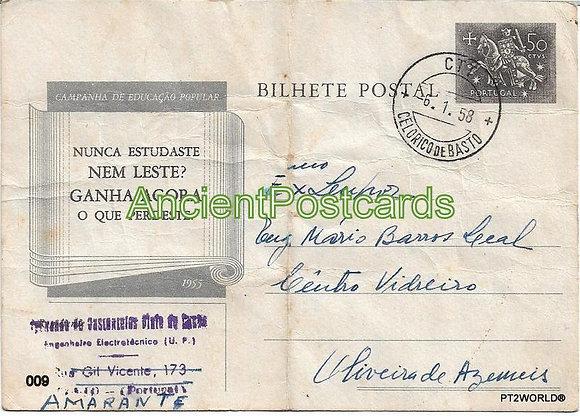Bilhete Postal PT009/58 - Companhia de Educação Popular