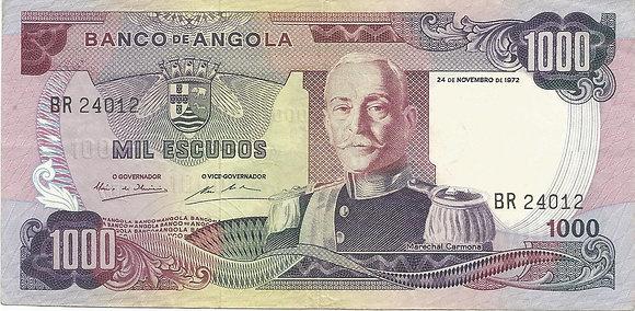 Angola ANBN10000024012 1000 Escudos 1972