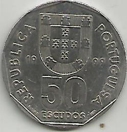 Portugal PT5131999 50 Escudos 1999