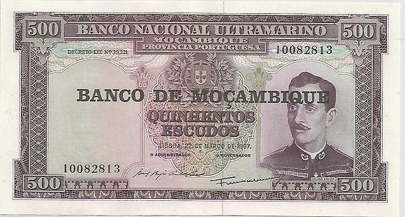 Moçambique MBBN5000062813 500 Escudos 1967