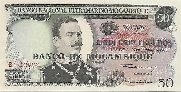 Moçambique MBBN0500062522 50 Escudos 1970