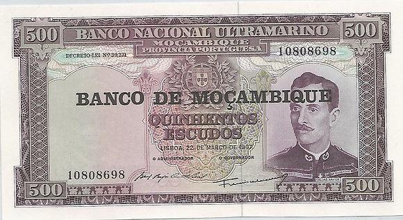 Moçambique MBBN5000048698 500 Escudos 1967