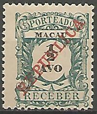 Macau MAS0010011911 Correios de Portugal